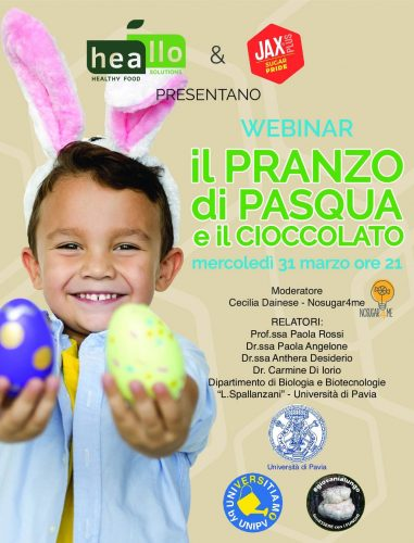 Webinar il pranzo di Pasqua e il cioccolato